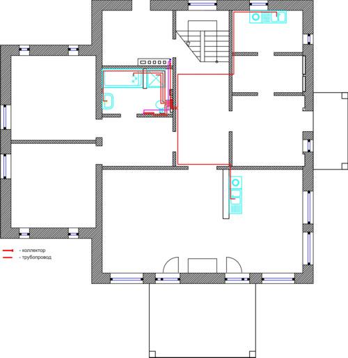 Проект горячего водоснабжения 1 этаж